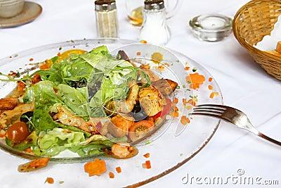 Mediterranean salad plate