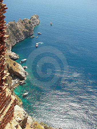Free Mediterranean Sea And Mountains Near Alanya (country Turkey) Royalty Free Stock Images - 2076889