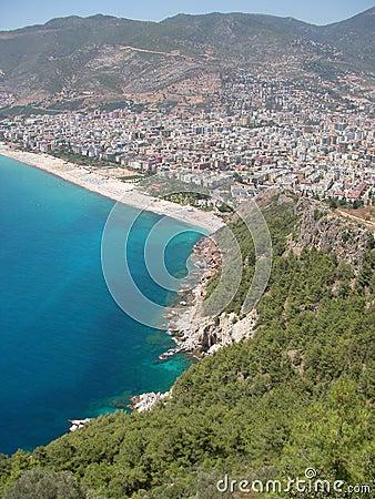 Free Mediterranean Sea, Beach And Mountains At Alanya (Turkey) Royalty Free Stock Image - 2076776