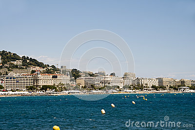 Mediterranean Sea resort panorama Cannes France