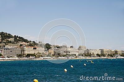 Mediterranean Sea resort panorama Cannes France