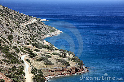 Mediterranean shore near Plaka, Crete, Greece