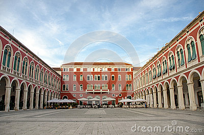The Mediterranean square, Split, Croatia