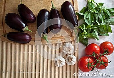 Mediterranean summer ingredients