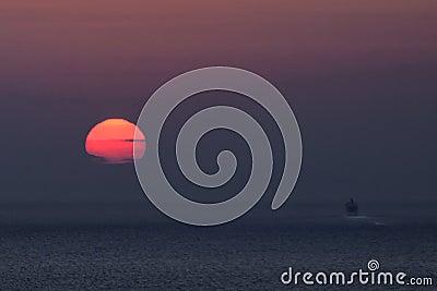 Mediterranean sunset in Oia