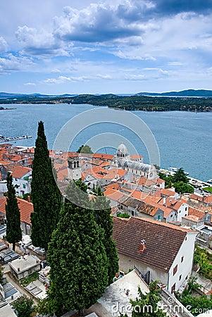 Mediterranean town Sibenik, Croatia