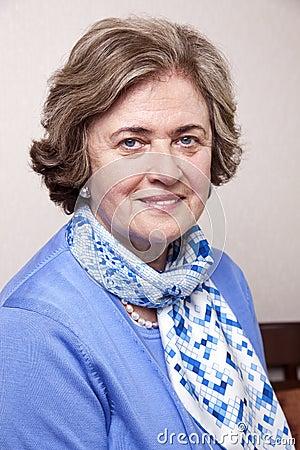 Senior Smiling Woman Portrait