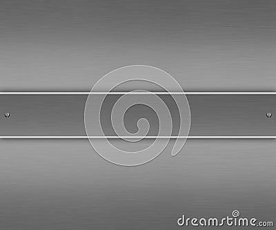 Medium grey brushed aluminium with riveted frame