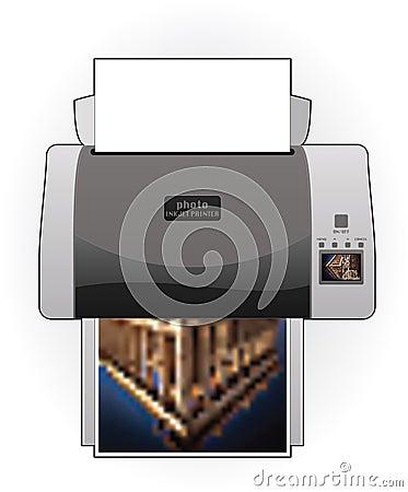 Medium Home Color Photo InkJet Printer Top View