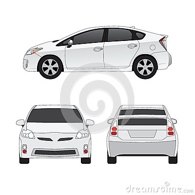 Medium size city car  illustration