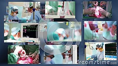 Medizinische Montage. Chirurgie
