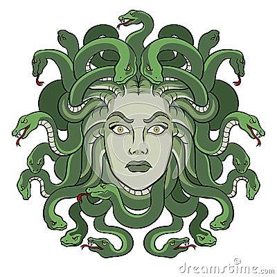 Free Medusa Greek Myth Creature Pop Art Vector Stock Photography - 115212262