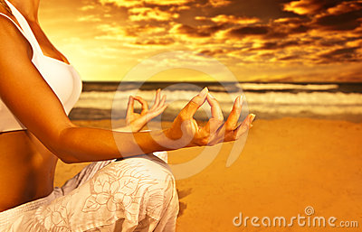 Medytaci plażowy joga