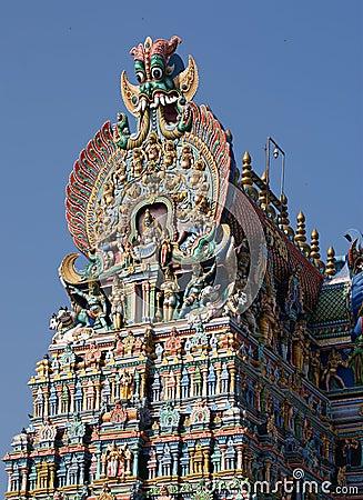Meenakshi hindu temple in Madurai, Tamil Nadu