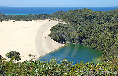 Meer Wabby, Fraser Eiland, Australië