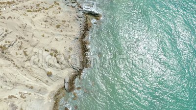 Meerblick und Felsenküste, Türkei stock footage