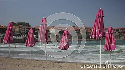 Meeresküste Seascape Sozopol Bulgarien stock footage
