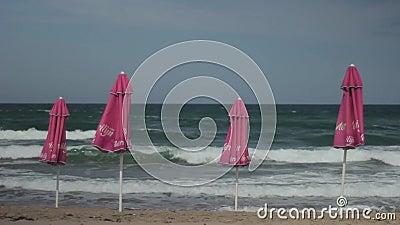 Meeresküste Seascape Sozopol Bulgarien stock video