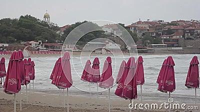 Meeresküste Seascape Sozopol Bulgarien stock video footage