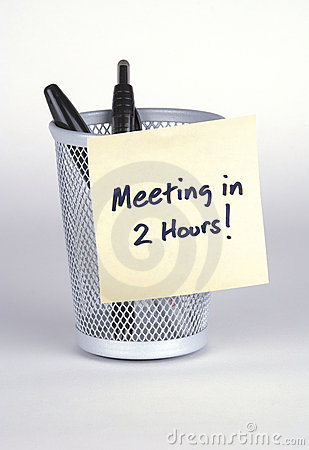 Meeting in 2 Hours! Post-It No