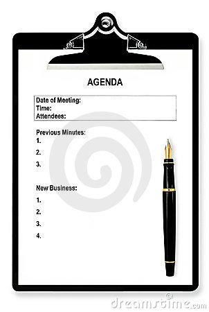 Free Meeting Agenda Stock Images - 5009224