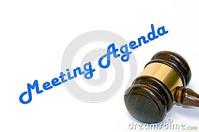 Meeting agenda and gavel