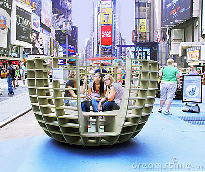 Meeting Bowls in Times Square. Editorial Photo