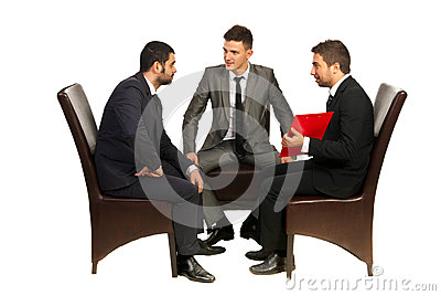 Meeting of business men