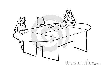 MEETING1 Cartoon Illustration