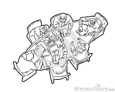 MEETING2 Cartoon Illustration