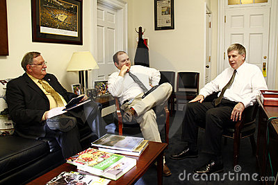 Meeting with Congressman Larry Kissel Editorial Image