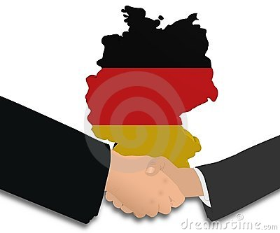 Meeting with German map flag