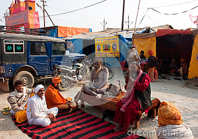 Meeting of the hindu gurus Editorial Image