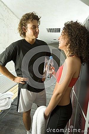 Meeting in locker room