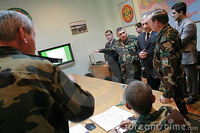 Meeting of the military leadership Editorial Photo