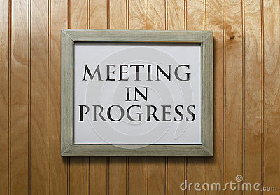 Meeting In Progress Sign Royalty Free Stock Images Image