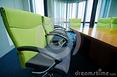 meeting room and conference table