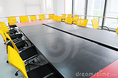 The meeting room interior