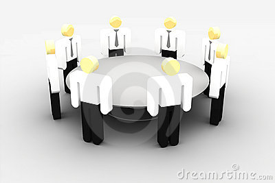 Meeting at the round table