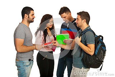 Meeting students group