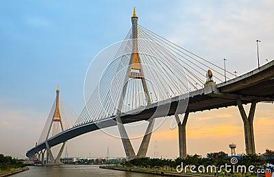 Mega Bridge at twilight, Bangkok,Thailand