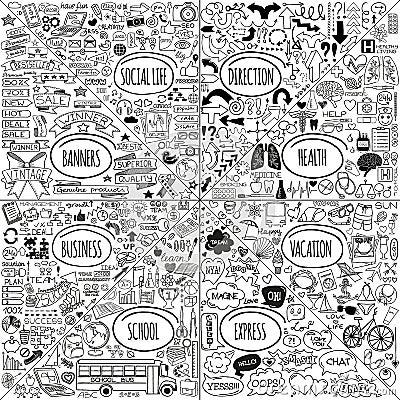Free Mega Doodle Icons Set Stock Image - 44124321