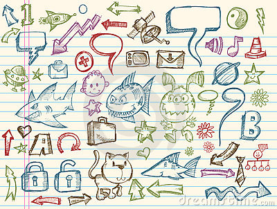 Mega Doodle Sketch Vector Collection