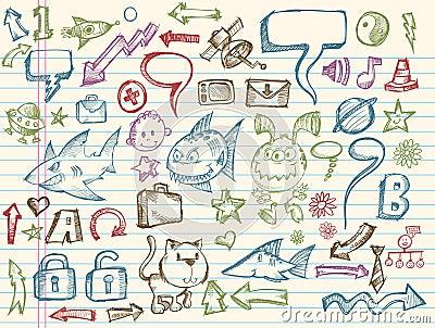 Mega Doodle Sketch Vector Collection