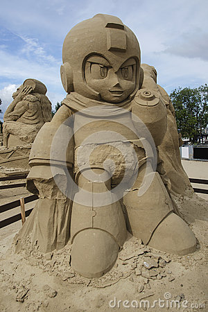 Free Mega Man In Sand Sculpture Festival In Lappeenranta Royalty Free Stock Photo - 59271935
