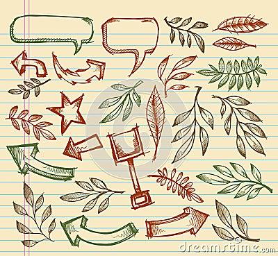 Mega Notebook Doodle Sketch set