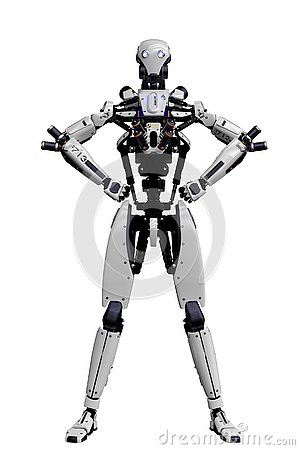 Free Mega Robot Super Drone In A White Background Royalty Free Stock Images - 138121279