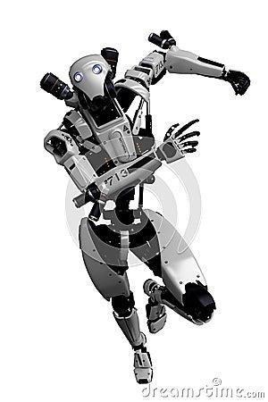 Free Mega Robot Super Drone In A White Background Stock Photo - 138121280