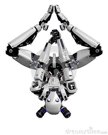Free Mega Robot Super Drone In A White Background Royalty Free Stock Image - 138121326