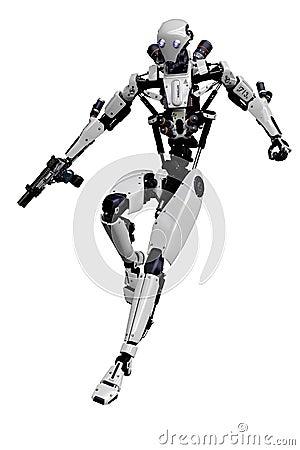 Free Mega Robot Super Drone In A White Background Stock Photos - 138121333